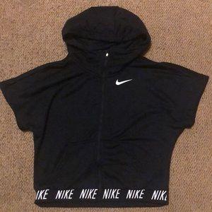 Nike Shirts & Tops - Nike youth cropped zip up hoodie sweatshirt XL